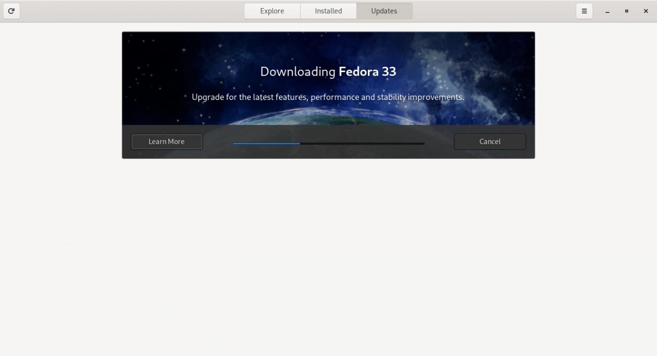 Downloading Fedora 33