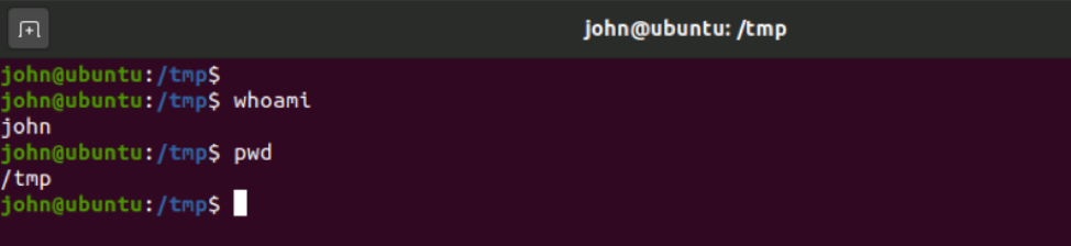 First look at the command line