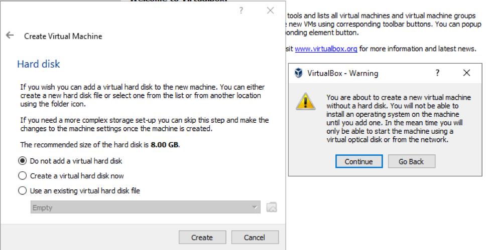 VirtualBox Warning