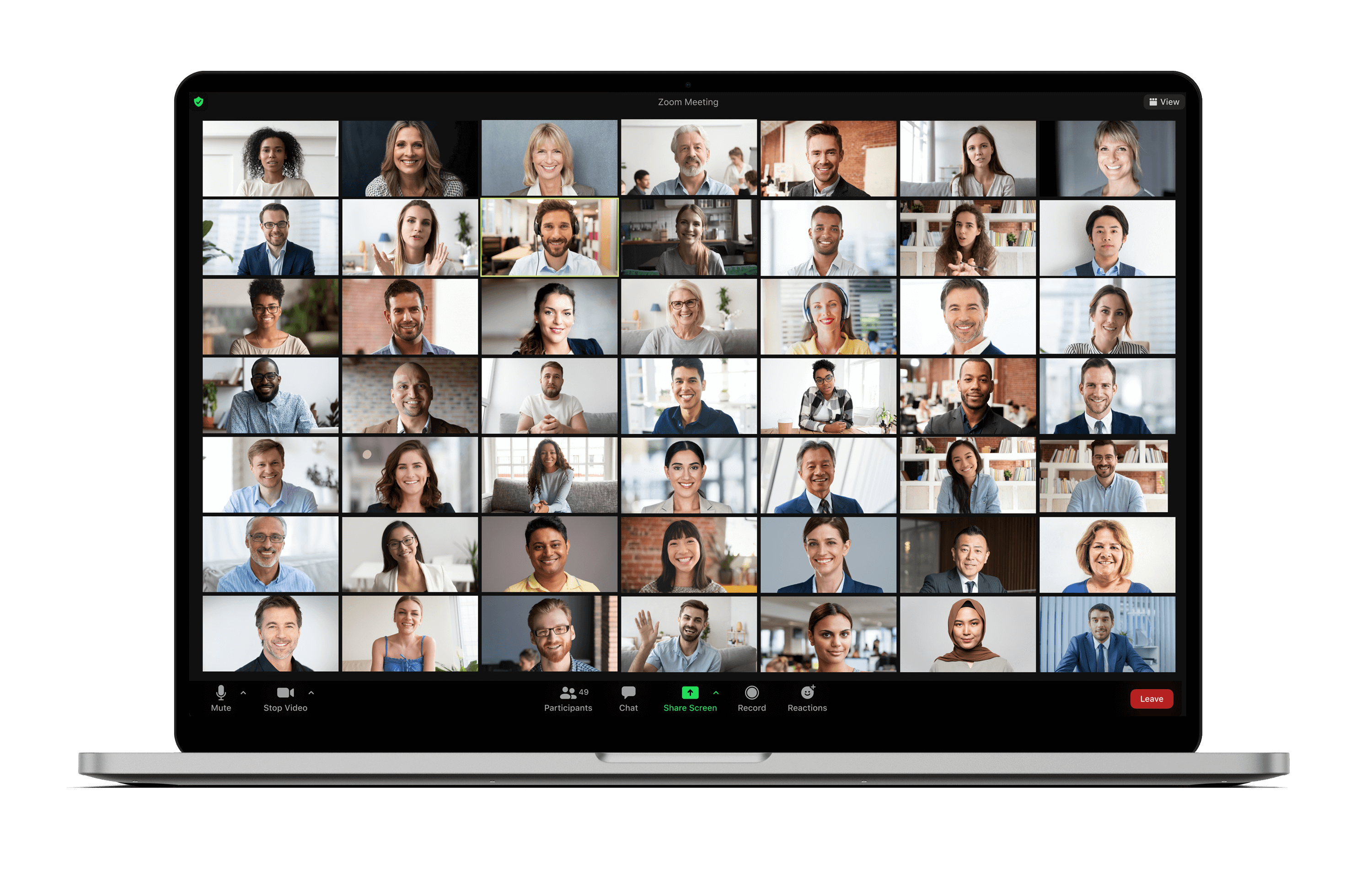 People on a Zoom conference call.