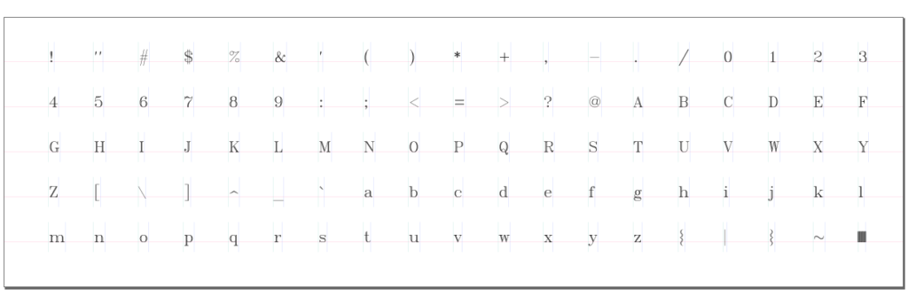 an existing stroke font opened