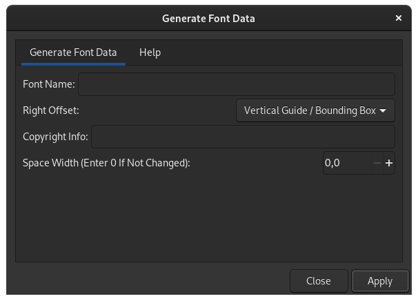 exporting the stroke font